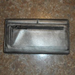 Coach Bags - Coach Wallet Silver Platinum Leather Gently Used!